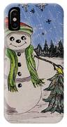 The Snowman's Tree IPhone Case