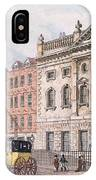 The South Front Of Ironmongers Hall, From R. Ackermanns Repository Of Arts 1811 Colour Litho IPhone Case