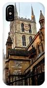 The Southwark Cathedral Church London In Winter IPhone Case