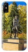 The Spartan Statue In Autumn IPhone Case