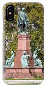 The Statue Of Istvan Szechenyi In Budapest IPhone Case