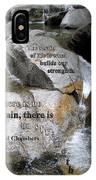 The Strain Of Life... - Yosemite IPhone Case