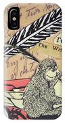 The Studious Rabbit And The Monkey IPhone Case