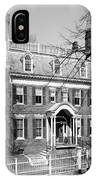 The Taft House - Brown University 1958 IPhone Case