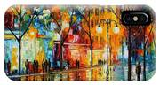 The Tears Of The Fall - Palette Knife Oil Painting On Canvas By Leonid Afremov IPhone X Case