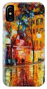 The Tears Of The Fall - Palette Knife Oil Painting On Canvas By Leonid Afremov IPhone Case