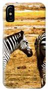 The Tired Zebras IPhone Case