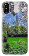The Tower Over A Garden IPhone Case