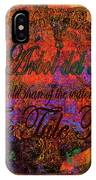 The Tree Of Tule   IPhone Case