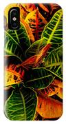 The Tropical Croton IPhone X Case