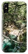 The Turquoise Waters Of The Forest River No2 IPhone Case