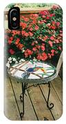 The Upper Deck With Stain Glass Table IPhone Case