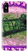 The Upside Down Biplane Stamp - 20130119 - V2 IPhone Case