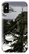 The View Of The Heceta Lighthouse IPhone Case