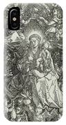 The Virgin And Child Surrounded By Angels IPhone Case