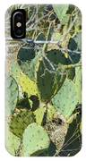 Cedar Park Texas Prickly Pear Cactus IPhone Case