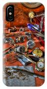 The Watchmaker's Desk IPhone Case