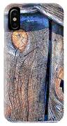 The Weathered Abstract From A Barn Door IPhone Case