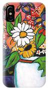 The White Daisy IPhone Case
