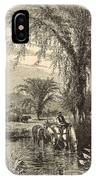 The White Mountains From The Conway Meadows 1872 Engraving IPhone Case