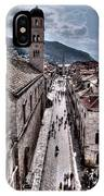 The White Tower In The Stradun From The Ramparts IPhone Case