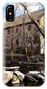 The Wissahickon Creek And Mather Mill IPhone Case
