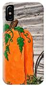 The Wooden Pumpkin IPhone Case