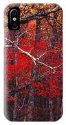 The Woods Aflame In Red IPhone Case