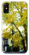 The Yardley Inn In Autumn IPhone Case