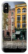 The Yellow House At The Liffey River - Dublin - Ireland IPhone Case