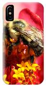 The Zinnia And The Bee IPhone Case