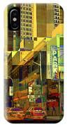 Theatre District - Neighborhoods Of New York City IPhone Case