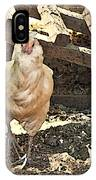 There's  A Chicken In The Hen House IPhone Case
