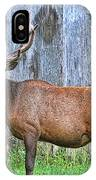 There's An Elk By The Barn IPhone Case
