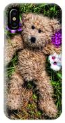 These Are For You - Cute Teddy Bear Art By William Patrick And Sharon Cummings IPhone Case