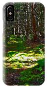 Thicket-like Woods And Spongy Moss Near Lobster Cove In Gros Mor IPhone Case