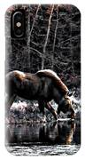 Thirsty Moose Impressionistic Digital Painting IPhone Case