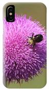 Thistle And A Bee IPhone Case