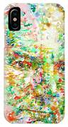 Thomas Bernhard Watercolor Portrait IPhone Case