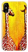 Three Amigos Giraffes Looking Back IPhone Case