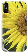 Three Bees On A Sunflower IPhone Case