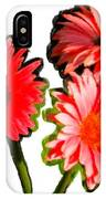 Three Bright Red Flowers IPhone Case