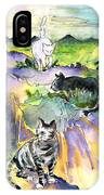 Three Cats On The Penon De Ifach IPhone Case
