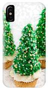 Three Christmastree Cupcakes  IPhone Case