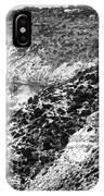 Three Cliffs In Cyprus - Black And White IPhone Case