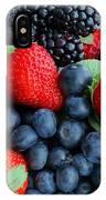 Three Fruit 2 - Strawberries - Blueberries - Blackberries IPhone Case