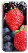 Three Fruit - Strawberries - Blueberries - Blackberries IPhone Case