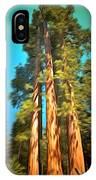 Three Giant Sequoias Digital IPhone Case
