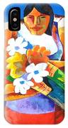 Three Girls With Flowers IPhone Case