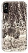 Three In The Field IPhone Case